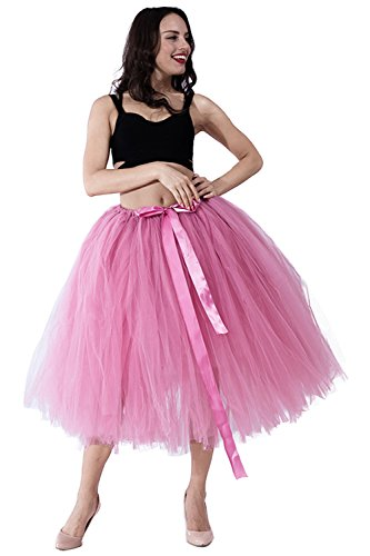 kephy Handmade Adult Tutu Tulle Skirt for Women 31.5 Inch Long Photography Wedding Party Skirts by kephy