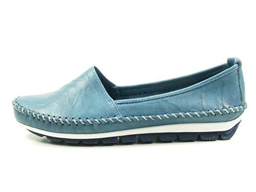 Gemini Women's Loafer Flats Blue yJzIp1qR