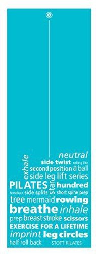 STOTT PILATES Pilates and Yoga Mat, Inspiration (Teal) 0.25 inch / 6 mm