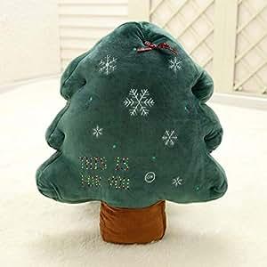 Christmas decoration plush toys glow Christmas tree pillow hotel shop window holiday decoration cushion cushion