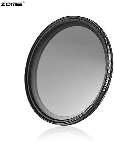 Rakuby 72mm ウルトラスリム 可変フェーダー ND2-400 ニュートラル NDフィルター ND2 ND4 ND8 ND16〜ND400〜ND400用 キャノン7D 60D 70D 500D ニコンD7000用 D300 D300 D7100用 ソニーA77 NEX 5 DSLRカメラ