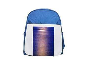 Moon-Glade Mochila infantil estampada azul mochila, mochilas lindas, pequeñas mochilas, mochila