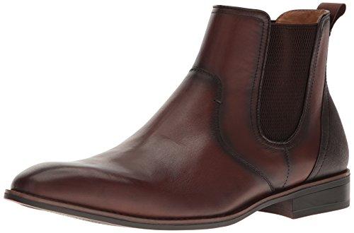 Steve Madden Mens Lobert Slip-On Loafer, Brown Leather, 8.5 M US