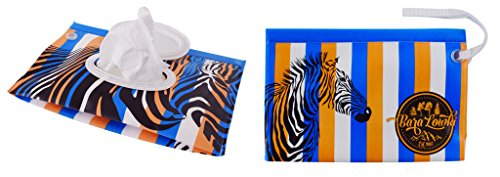 Zebra Safari Wet Wipe Dispenser Case from Bara Lowki by ka Mercantile