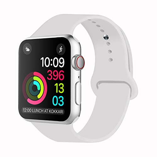 iDon Smart Watch Sport Band, Soft Silicone Replacement Sports Band  compatible for Apple Watch Band 42mm 2017 Series 3 Series 2 Series 1 All