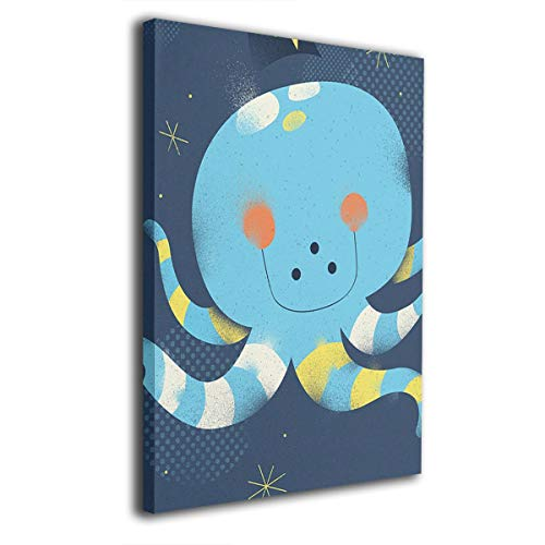 Baerg Squid Stars Night Frameless Decorative Painting Wall Art for Home and Office Decorations]()