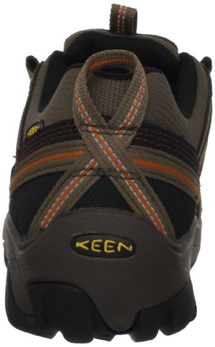 Keen Utility Mens Flint Low Steel Toe Work Shoe,Shitake/Rust,15 EE US