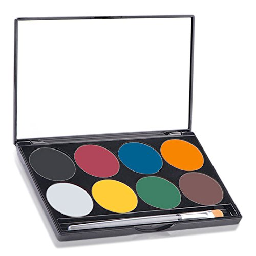 Mehron Makeup Paradise AQ Face & Body Paint 8 Color Palette- BASIC (Halloween Costumes For Work Groups)