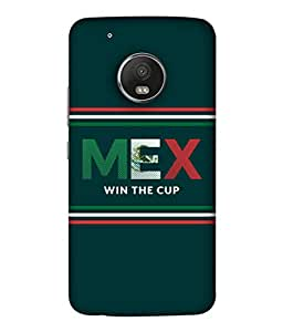 ColorKing Football Mexico 03 Green shell case cover for Motorola Moto G5 Plus