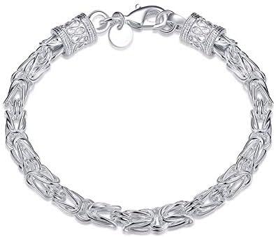 Hibuyer Damen-Armband, 925er-Sterlingsilber, kreatives Drachenelement-Design, 5 mm, für Damen und Herren