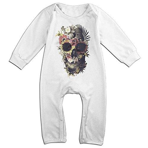 Newborn Baby Flowers Skull Long Sleeve Romper Climb Clothes 18 Months (Devil Halloween Costume Ebay)