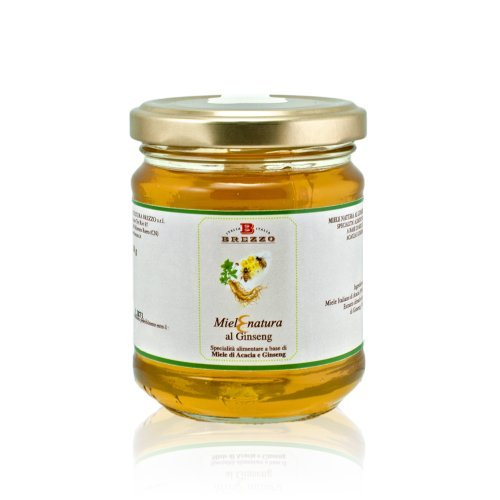 Italian Raw Acacia Honey with Gingseng | Natural Energy | 250g/8.8 oz by Aromataste