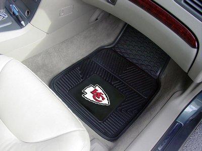 Fanmats 8899 Kansas City Chiefs Heavy Duty 2-Piece Vinyl Car Mats 18 in. x 27 in.