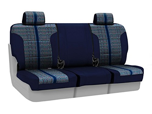 Coverking Custom Fit Front 40/20/40 Bench Seat Cover for Select Lincoln Town Car Models - Saddleblanket (Dark Blue with Neosupreme Navy Blue Sides) ()
