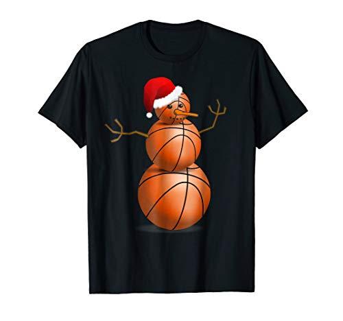 new style b9f99 b2952 Christmas Basketball Shirt - Basketball Snowman T-Shirt