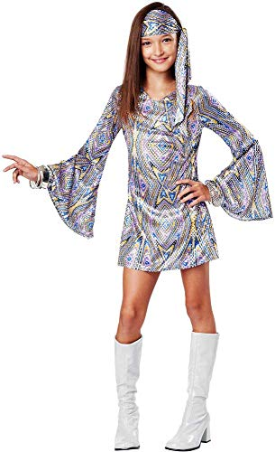 Groovy 70'S Disco Darling Hippie Era Halloween Costume Outfit Child Girls -