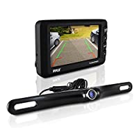 "Pyle PLCM3550WIR Wireless Backup Camera System (Rearview Parking Reverse Assistence, Night Vision Waterproof Camera - 3.5"" Monitor)"