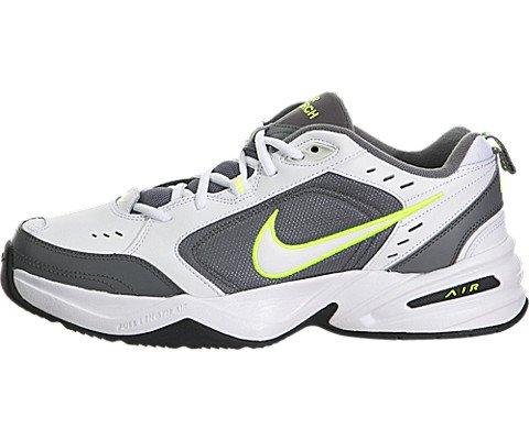 Nike Men's Air Monarch IV White/White/Cool Grey/Volt Training Shoe 9.5 Men US