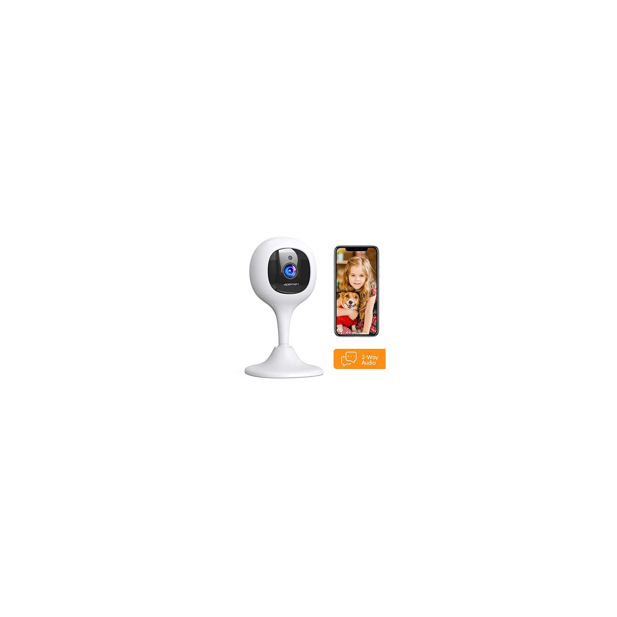 APEMAN Baby Monitor Camera Pan/Tilt/Zoom WiFi 1080P Pet Camera Compatible with Alexa Home Security Camera with Motion Tracking/Detection 2-Way Audio and Night Vision Using Tuyasmart or Smartlife APP