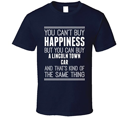 Buy a Lincoln Town Car Happiness Car Lover T Shirt L Navy