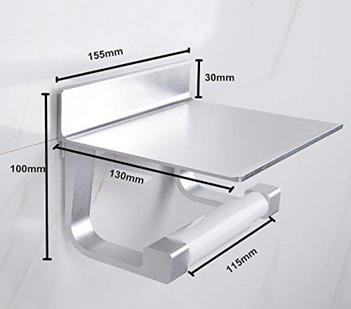 S.R HOME Porta Carta Igienica Autoadesiva Senza Perforazione con Supporto Spazio in Alluminio con la Supercolla per Cucina e Bagni ECC.