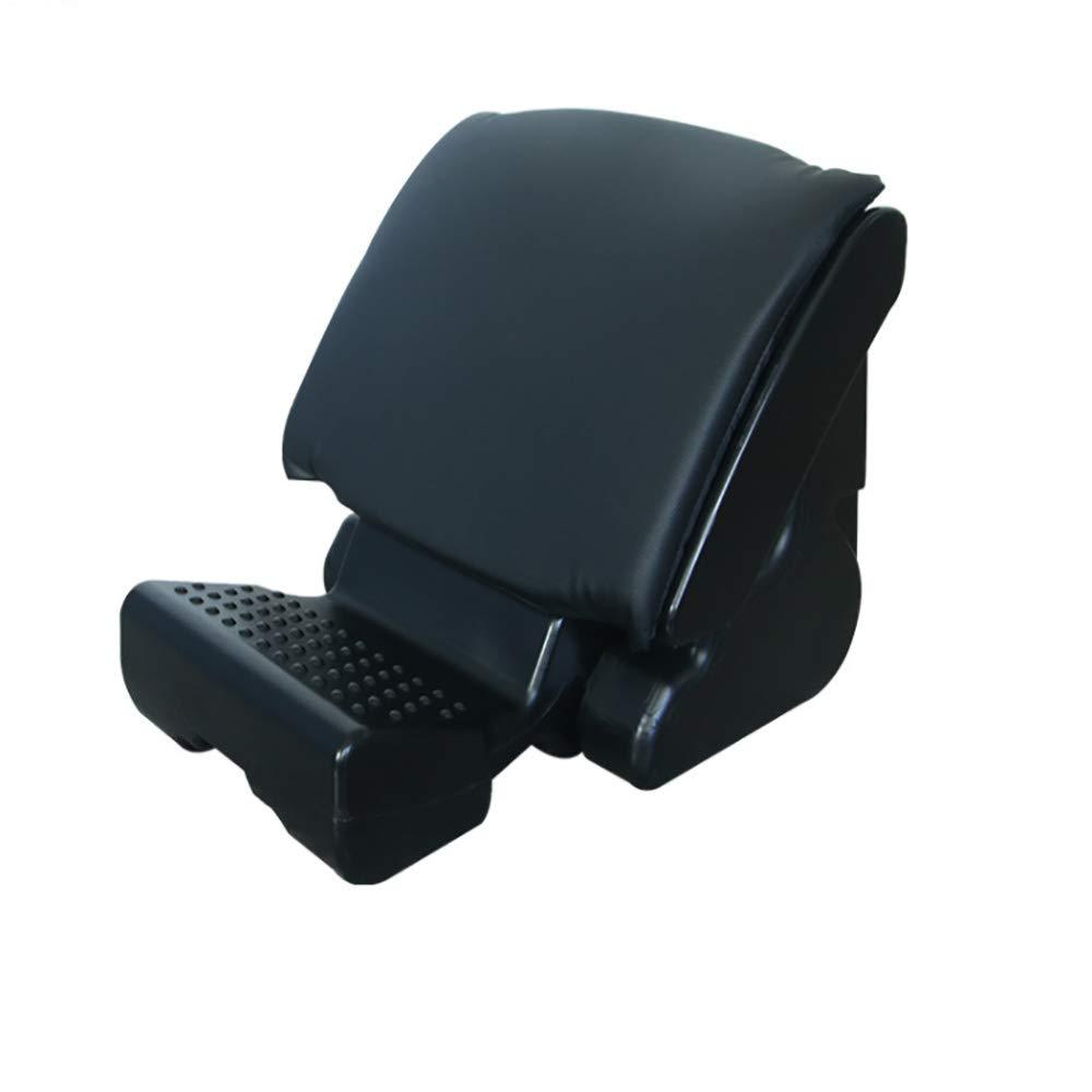 Longdm Ergonomic footrest Stool Multipurpose Travel Foot Rest Suitable for Home/Office/car/Stadium,Black