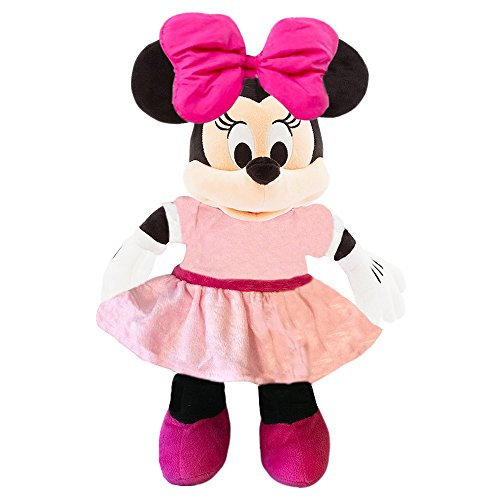 Minnie Disney Mouse Plush -- Deluxe Large 15 Inch Mouse Plush Puppet Toy (Officially Licensed)
