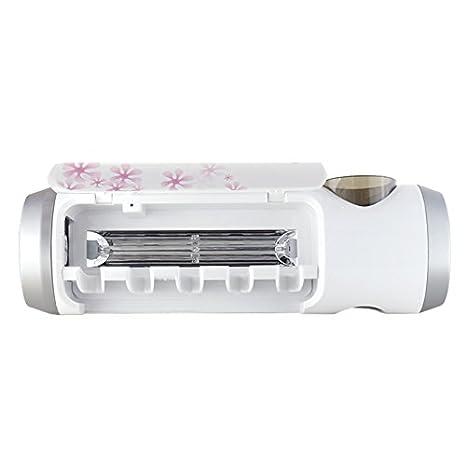 Cepillo de dientes recargable UV, Esterilizador Desinfectante, Soporte de cepillo de dientes, Dispensador