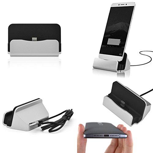 Lade- und Docking-Station für Samsung Galaxy S5 Mini G800F - Desktop-Dock Ladegerät Ladehalterung Smartphone und Handy- Halter- Ständer- Cradle Ständer Pack Dock MiniDock