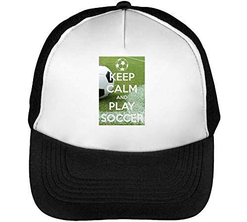 Play Gorras Calm Beisbol Soccer Blanco Hombre Keep Negro Snapback xfBwqxn