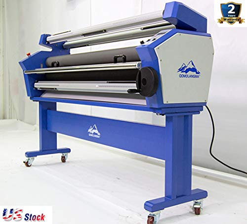 US Stock - 55 inch Full-auto Stand Wide Format Cold Laminator Heat Assisted Roll to Roll Large Format Laminating and Mounting Machine