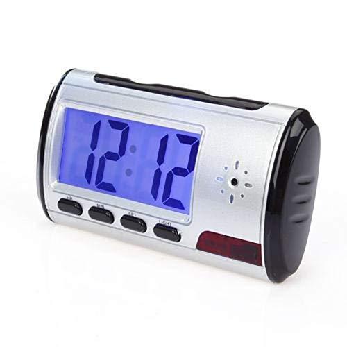 Hihey Alarm Clock Spy Video Camera Alarm Clock C/ámara Oculta DVR con Mini DV Videoc/ámara