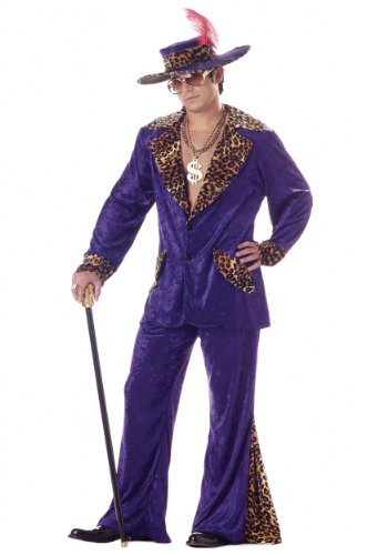 Gangster Halloween Costumes For Guys (California Costumes Men's Pimp/Adult, PURPLE,)