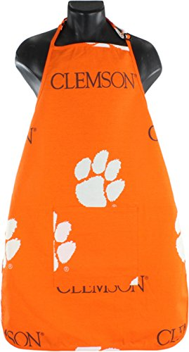 College Covers Clemson Tigers Tailgating or Grilling Apron with 9