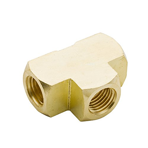 Legines Brass Pipe Fitting, Barstock Tee ,1/8