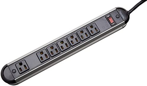 Fellowes 7-Outlet Heavy Duty Metal Power Strip, 12 Foot Cord 99089