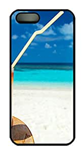 iPhone 5s Cases & Covers - Summer Cocktail On The Beach Custom PC Soft Case Cover Protector for iPhone 5s - Black