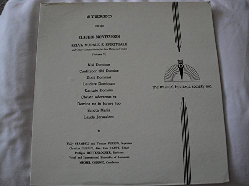 Claudio Monteverdi Selva Morale E Spirituale and other Compositions for San Marco in Venice Volume V Vinyl Lp Musical Heritage Society OR 283 Michel Corboz, - Marcos San Malls