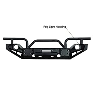 Restyling Factory Jeep Wrangler JK Black Full Width Front Bumper With OE Fog Lights Hole and Winch Plate Jeep JK Wrangler
