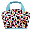 BYO by BUILT NY Gusto Neoprene Lunch Bag, Dot Candy Pink