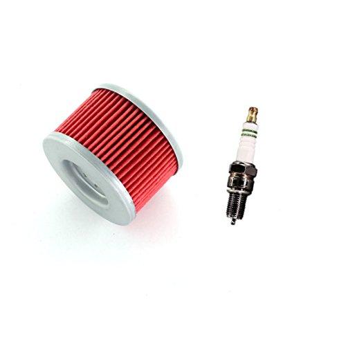 USPEEDA Oil Filter Spark Plug for Honda Big Red 250 ATC250ES FourTrax 200 TRX200 TRX200D 250 TRX250 TRX250X TRX250R Sportrax 300 TRX300EX XL250 XL600R XL600L XR200R XR440 XR500