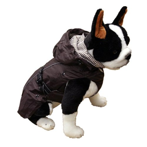 One for Pets 1305-Brown-12  All-Season Dog Coat with Removable Fleece Lining, 12-Inch Back Length, Brown