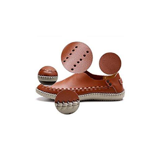 Los Respirables De Huecos Nuevos Oxford Los Pies Las La Zapatos Comodidad Los Calzan De De Brown Zapatos Verano Casuales De Los del Hombres Hombres Sandalias zqv7Pnv