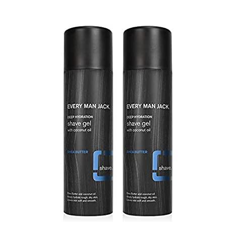 Amazon Com Every Man Jack Shave Gel Shea Butter 7 Ounce Twin Pack 2 Cans Included Naturally Derived Parabens Free Pthalate Free Dye Free And Certified Cruelty Free Beauty