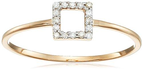 MATEO 14k Gold Mini Diamond Sq