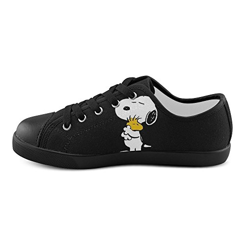 56495dc304de Angelinana Custom Snoopy Lace-up Flats Canvas Shoes Sneakers for Adult Women  - hot sale