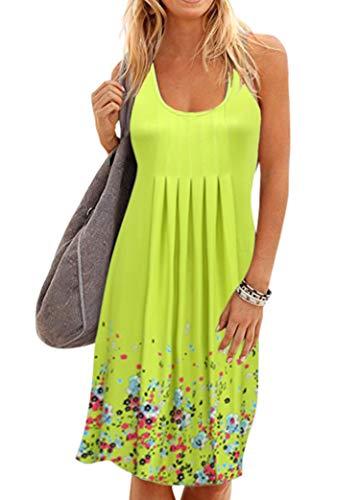 Women Midi Summer Sundress Casual Sleeveless Beach Dress