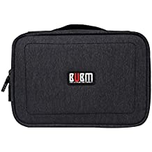 BUBM Travel Gadget Organizer Double LayersElectronics Accessories Bag Data Wire Storage Package Black