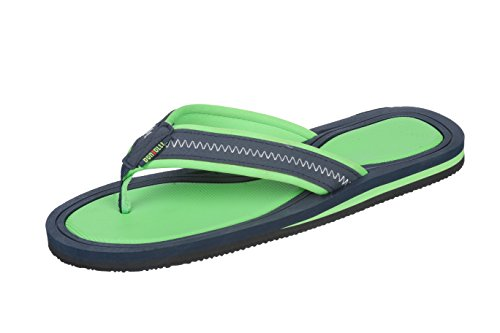 Hendricks Men's Flip Flop with Fabric Strap Sandal with Comfortable Thong (9 D(M) US, - Lime Green Flip Flop