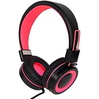 Amazon.com: RockPapa KD350 - Auriculares infantiles, Rosado ...